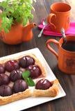 Plum tart Royalty Free Stock Image