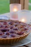 Plum tart – completely vegan plum frangipane Royalty Free Stock Photos