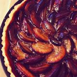 Plum tart pie Royalty Free Stock Images