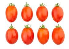 Plum tomatoes. Isolated on white royalty free stock photos