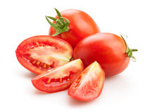 Plum tomatoes Stock Images
