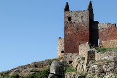 Hammershus Castle Ruin. Located on the island Bornholm, Denmmark Royalty Free Stock Photography