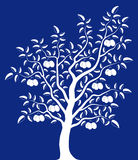 Plum tree. On blue background Stock Image