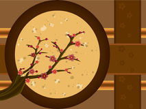 Plum Tree. A Korean plum tree Maehwa with blossoms Stock Photography