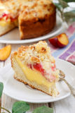 Plum and vanilla pie Royalty Free Stock Photography