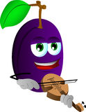 Plum with violin Stock Image