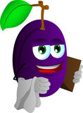 Plum waiter Stock Images