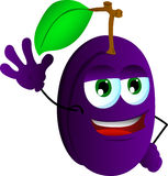 Plum waving hand Royalty Free Stock Images