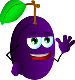 Plum waving Royalty Free Stock Photo