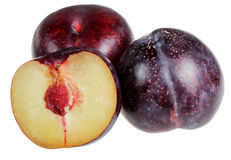 Plum on a white background Royalty Free Stock Image