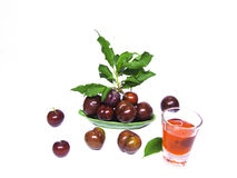 Plum. On a white background . Ready for you to apply Royalty Free Stock Photo