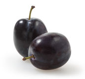 Plum  on white with clipping path Royalty Free Stock Images