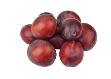 Plum on white Stock Photo