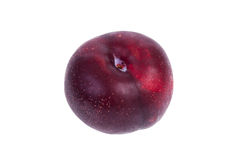 Plum. Whole plum isolated on a white background stock photo