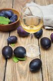 Plum wine Stock Images