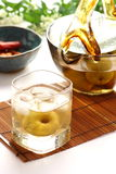 Plum wine Royalty Free Stock Photo