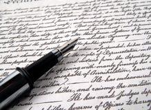 Pluma 2 de la caligrafía Imagen de archivo libre de regalías