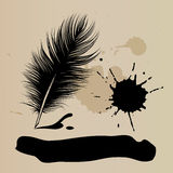 Pluma stock de ilustración