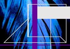 Pluma azul para la cubierta de libro Tema abstracto de la naturaleza Imagen de archivo libre de regalías