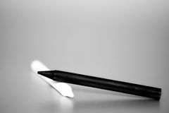 Pluma blanco y negro Foto de archivo libre de regalías