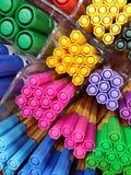 Pluma coloreada del fieltro Imágenes de archivo libres de regalías