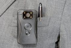 Pluma de la chaqueta del cuerpo de cámara Foto de archivo