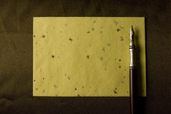 Pluma de la escritura Imagen de archivo libre de regalías