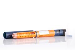 Pluma de la insulina Imagenes de archivo