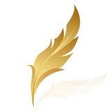 Pluma de oro ilustración del vector