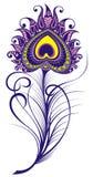 Pluma decorativa en blanco Fotografía de archivo libre de regalías
