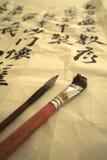 Pluma del cepillo del chino Foto de archivo