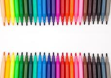 Pluma del color Imagenes de archivo