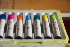 Pluma del color Fotos de archivo libres de regalías