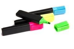 Pluma del highlighter del marcador Fotografía de archivo