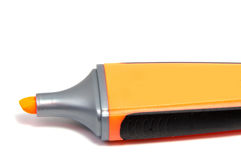 Pluma del highlighter del marcador aislada en el fondo blanco Fotografía de archivo libre de regalías