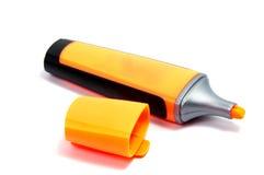Pluma del highlighter del marcador aislada en el fondo blanco Imagen de archivo libre de regalías