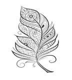 Pluma estilizada enredo del zen para la página que colorea Imagenes de archivo