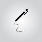 Pluma - icono del vector Imagen de archivo libre de regalías