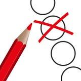 pluma roja con la cruz libre illustration