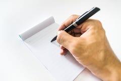 Pluma y cuaderno Foto de archivo libre de regalías