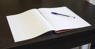 Pluma y cuaderno - papeleo Imagen de archivo libre de regalías