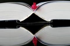 Pluma y libro Foto de archivo libre de regalías