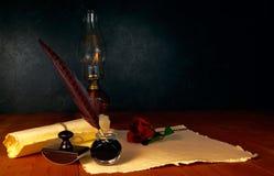 Pluma y tinta de la pluma Imagen de archivo
