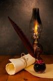Pluma y tinta de la pluma Fotografía de archivo libre de regalías