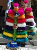 Plumajes - nucohoed van Negritos DE Huà ¡ royalty-vrije stock afbeeldingen