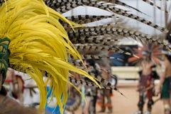 Plumas aztecas Imagen de archivo libre de regalías