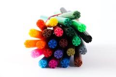 Plumas coloridas Fotografía de archivo libre de regalías