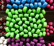 Plumas coloridas Fotos de archivo libres de regalías