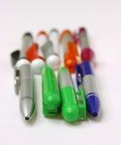 Plumas, contacto, contactos, escuela, secretaria Imagen de archivo libre de regalías