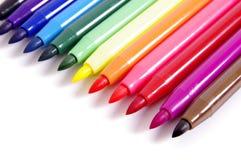 Plumas de extremidad de fieltro multicoloras Fotografía de archivo libre de regalías